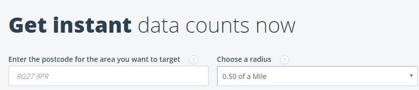 Get instant data counts